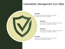 Vulnerability Management Icon Slide