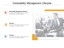Vulnerability Management Lifecycle Ppt Powerpoint Presentation Pictures Cpb