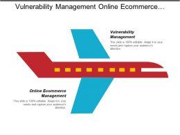 Vulnerability Management Online Ecommerce Management Brainstorming Product Sales
