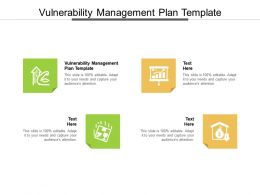 Vulnerability Management Plan Template Ppt Powerpoint Presentation File Graphics Cpb
