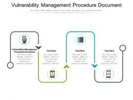 Vulnerability Management Procedure Document Ppt Powerpoint Presentation File Master Slide Cpb