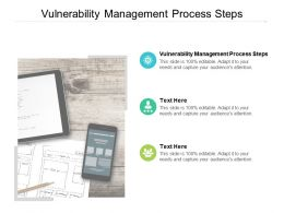 Vulnerability Management Process Steps Ppt Powerpoint Presentation Model Display Cpb