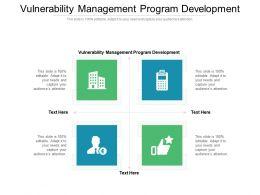Vulnerability Management Program Development Ppt Powerpoint Presentation Grid Cpb