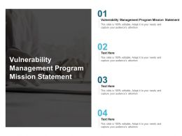Vulnerability Management Program Mission Statement Ppt Powerpoint Presentation Cpb