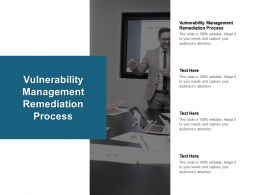 Vulnerability Management Remediation Process Ppt Powerpoint Presentation Pictures Cpb