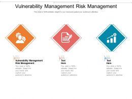 Vulnerability Management Risk Management Ppt Powerpoint Presentation Show Cpb