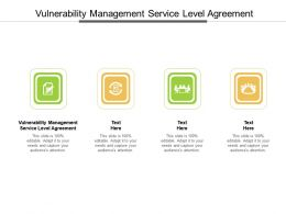 Vulnerability Management Service Level Agreement Ppt Powerpoint Presentation Model Designs Cpb