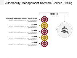 Vulnerability Management Software Service Pricing Ppt Powerpoint Presentation Inspiration Cpb