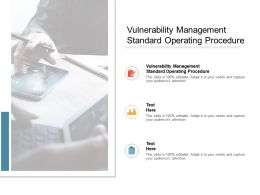 Vulnerability Management Standard Operating Procedure Ppt Powerpoint Presentation Pictures Graphic Images Cpb