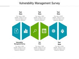 Vulnerability Management Survey Ppt Powerpoint Presentation Infographics Skills Cpb