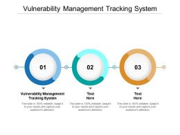 Vulnerability Management Tracking System Ppt Powerpoint Presentation Gallery Graphic Tips Cpb