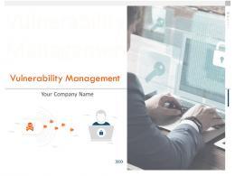 Vulnerability Management Whitepaper Powerpoint Presentation Slides