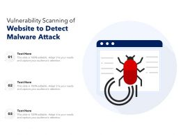 Vulnerability Scanning Of Website To Detect Malware Attack