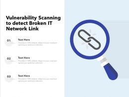 Vulnerability Scanning To Detect Broken IT Network Link