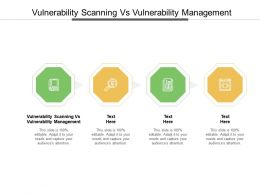 Vulnerability Scanning Vs Vulnerability Management Ppt Powerpoint Presentation Inspiration Brochure Cpb