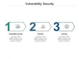 Vulnerability Security Ppt Powerpoint Presentation Ideas Graphic Tips Cpb