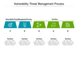 Vulnerability Threat Management Process Ppt Powerpoint Presentation Professional Show Cpb