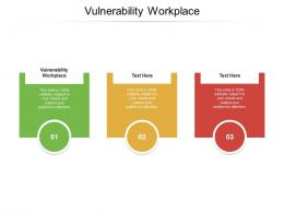 Vulnerability Workplace Ppt Powerpoint Presentation Model Deck Cpb
