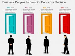 vw Business Peoples In Front Of Doors For Decision Flat Powerpoint Design