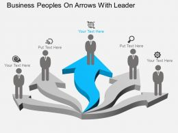 vx Business Peoples On Arrows With Leader Flat Powerpoint Design