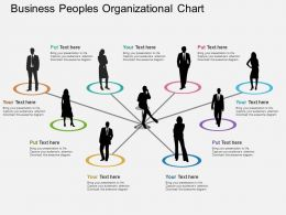 vy Business Peoples Organizational Chart Flat Powerpoint Design