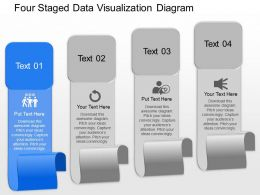 Wa Four Staged Data Visualization Diagram Powerpoint Template