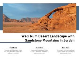 Wadi Rum Desert Landscape With Sandstone Mountains In Jordan
