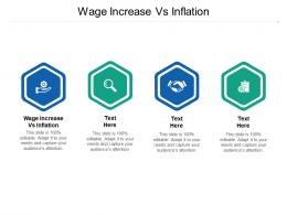 Wage Increase Vs Inflation Ppt Powerpoint Presentation Icon Portrait Cpb