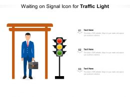Waiting On Signal Icon For Traffic Light
