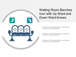 Waiting Room Benches Icon With Up Ward And Down Ward Arrows