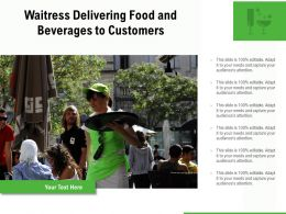 Waitress Delivering Food And Beverages To Customers