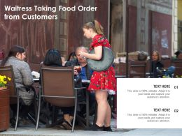Waitress Taking Food Order From Customers
