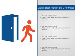 Walking Icon Human And Door Image