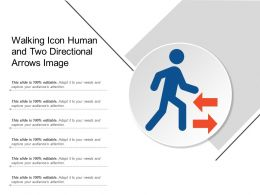 Walking Icon Human And Two Directional Arrows Image