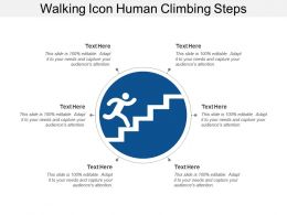 Walking Icon Human Climbing Steps
