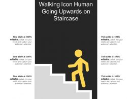 Walking Icon Human Going Upwards On Staircase