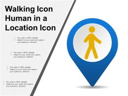 Walking Icon Human In A Location Icon