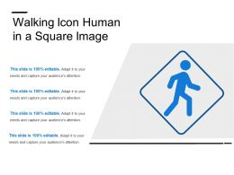 Walking Icon Human In A Square Image