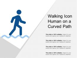 Walking Icon Human On A Curved Path