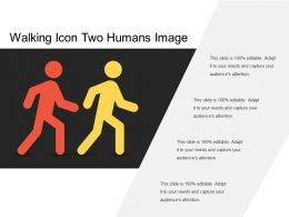 Walking Icon Two Humans Image