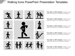 Walking Icons Powerpoint Presentation Templates