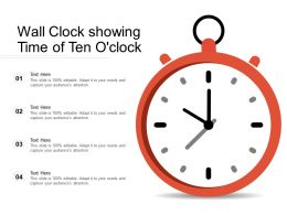 Wall Clock Showing Time Of Ten Oclock
