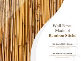 Wall Fence Made Of Bamboo Sticks