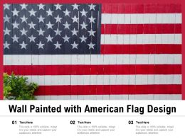 Wall Painted With American Flag Design