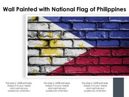 Wall Painted With National Flag Of Philippines