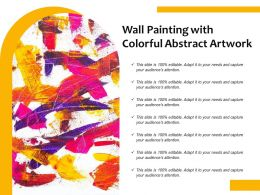 Wall Painting With Colorful Abstract Artwork