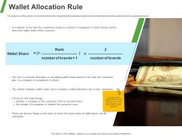 Wallet Allocation Rule Ppt Powerpoint Presentation Slides Smartart