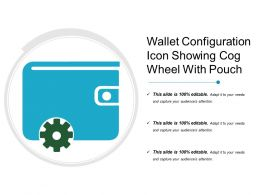 Wallet Configuration Icon Showing Cog Wheel With Pouch