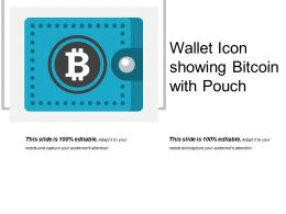 Wallet Icon Showing Bitcoin With Pouch