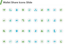 Wallet Share Icons Slide Ppt Powerpoint Presentation Visual Aids Outline